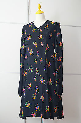 Vintage Kleid dress 70er 70s 60er 60s long sleeves