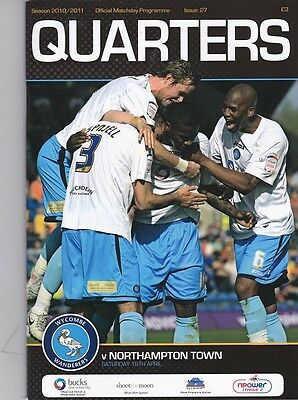 Wycombe Wanderers 2010-2011 Home Programmes