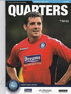 Wycombe Wanderers 2011-2012 Home Programmes