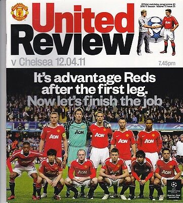 Manchester United 2010-2011 Home Programmes