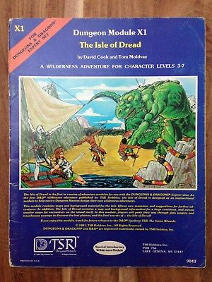 Isle of Dread - Dungeons and Dragons Expert Module X1 - TSR Cook + Moldvay