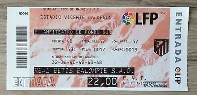 ATLETICO MADRID v REAL BETIS LA LIGA MATCH TICKET 2005 SEASON ?