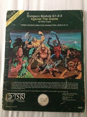 Against the Giants - AD&D Modules G 1-2-3 TSR Gary Gygax