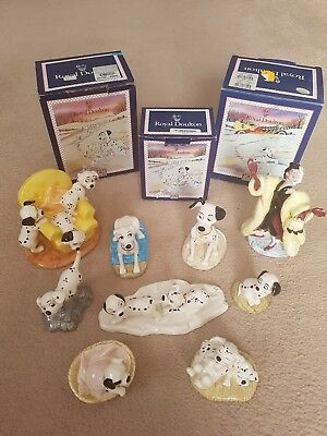 Royal Doulton Disney 101 Dalmations Figurines Collection vgc.