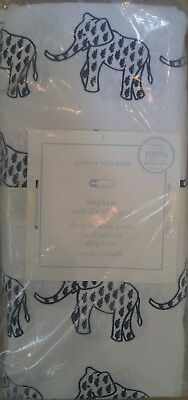 Pottery Barn Baby Organic Elephant Crib Fitted Sheet One Size Navy New