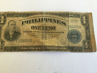 Philippines One Peso Victory Series Banknote- June 1922