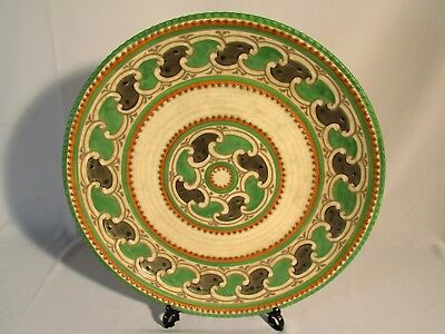 "Rare Charlotte Rhead Crown Ducal ""Green Chain"" Charger/Plate 27cm Excellent"