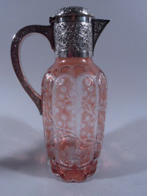 Victorian Decanter - Antique - English Sterling Silver & Cut to Clear Crystal