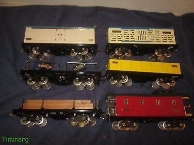 6 Lionel Classics 500 Series Standard Gauge Freight Cars Nice