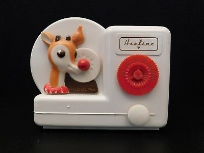 Vintage 1950 Airline Rudolph The Red Nose Reindeer Old Antique Tube Radio