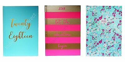 NEW YEAR DIARY 2017 HARDBACK QUOTE HIPSTER DESK PLANNER SCHOOL COLLEGE ORGANISER