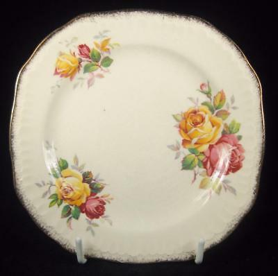 Swinnertons 'Luxor Vellum' Pink & Yellow Roses Side Plate (3 Available)