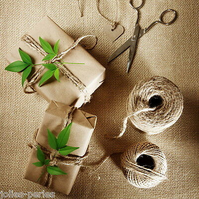 1Roll(50m) Light Blonde Hemp Cord Natural Twine for Gift Packing