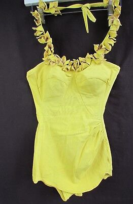 Vtg Original Women's 50's Or 60's Swimsuit Deweese Design One Piece