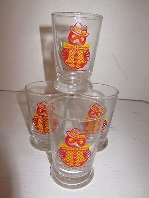 4 - 1953 Squirt Glasses - GLOW-BALL Squirt & Whiskey - The Squirt Company