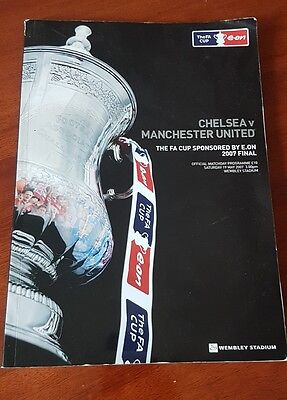 2007 FA Cup Final Programme Chelsea V Manchester United