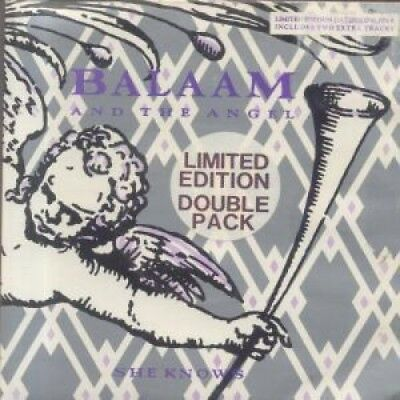 "BALAAM AND THE ANGEL She Knows DOUBLE 7"" VINYL UK Virgin 1986 4 Track Limited"
