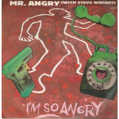 """MR ANGRY WITH STEVE WRIGHT I'm So Angry 12"""" VINYL UK Mca 1985 4 Track B/W Angry"""