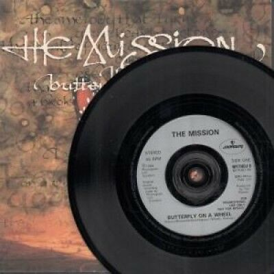 "MISSION Butterfly On A Wheel 7"" VINYL UK Mercury 1989 Double A Sided Promo"