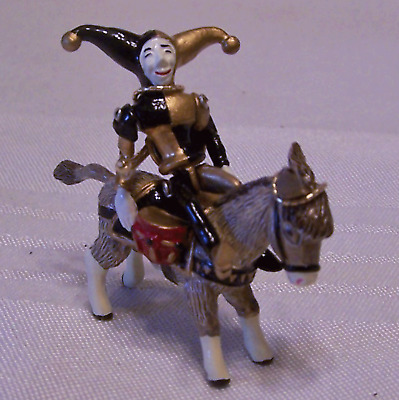 Hantel Miniature Pewter Bridled Donkey Jester Rider Figures Theatre Players NOS
