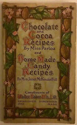 Baker Co. 1909 Chocolate And Cocoa Recipes Booklet