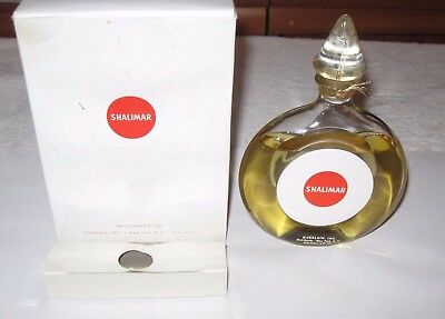 Vintage Guerlain Shalimar Perfume Bottle & Box - Cologne 6 OZ - Sealed, 3/4 Full