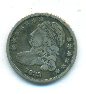 Very Fine 1833 Bust Dime Jr-6