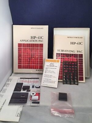 BOXED Survey Pac HP-41C, CV, CX; Part Number 00041-14004 Overlay QREF Manual