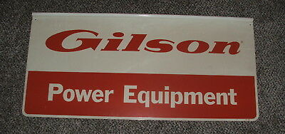 "GILSON BROTHERS  POWER EQUIPMENT Double Sided Metal Sign 36"" X 17"" G-117"
