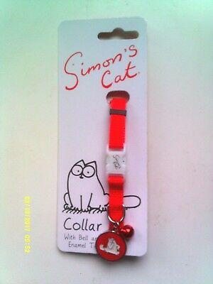Simon's Cat - Cat Collar With Enamel Tag And Bell - New -