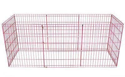 42-Pink Tall Dog Playpen Crate Fence Pet Kennel Play Pen Exercise Cage -8 Panel