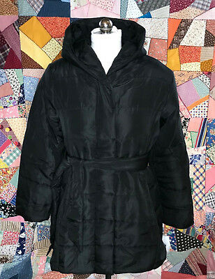 Oh Baby by Motherhood Maternity Puffer Winter Coat Quilted Black Size Large