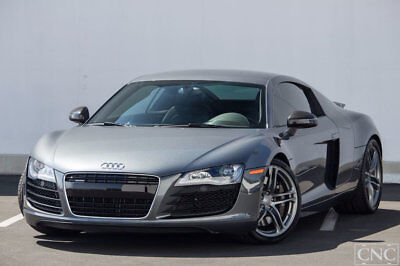 2012 Audi R8  2012 Audi R8 Coupe in Daytona Gray Pearl Only 18,507 Miles / Carbon Blades