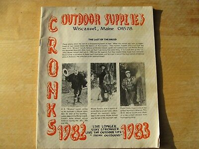 Cronks Outdoor Trapping Supplies Catalog  1982