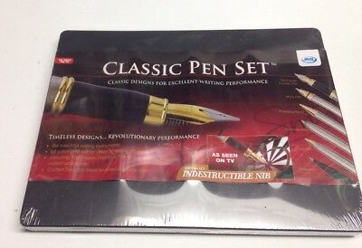 NIB JML Classic Pen Set As Seen On TV 6 Pens 66 Piece Refill  Storage Case
