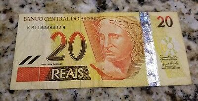 20 Brazil Reais Banco Central Do Brasil Foreign, World Currency / Bill