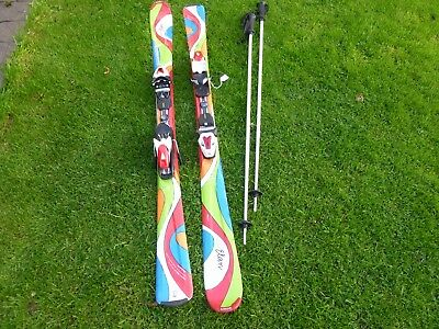 Elan Fusion Junior Skis Full Diagonal My Spice 144 & Poles Collect Only Bristol