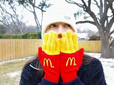 McDonalds French Fry fries gloves mittens