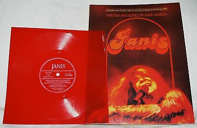 Janis Joplin by David Dalton w/red vinyl 33 rpm record songs photos bio 1971 pb