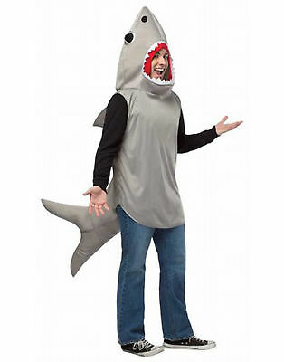 Adult Sand Shark Mascot Funny Fish Unisex Halloween Costume - One Size