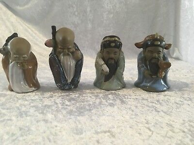 Group Of Four Chinese Ceramic Figurines- Mint Condition- Mid To Late 20C