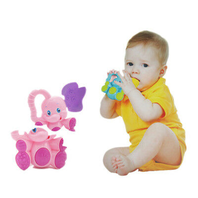 1*Animals Plastic Baby Funny Toys Hand Jingle Shaking Rattles Xmas Birthday Gift