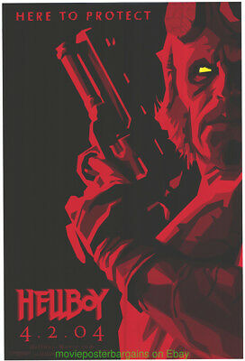 HELLBOY MOVIE POSTER Original SS 27x40 RARE Red Style Advance GLOSSY RON PERLMAN