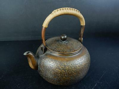 J1921: Japanese Finish hammer pattern COPPER BOTTLE Teapot Dobin Tea Ceremony