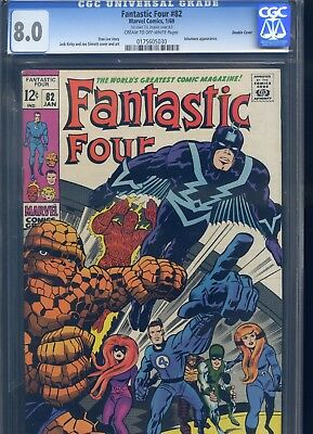 Fantastic Four #82 CGC 8.0 Double Cover Inhumans Appearance