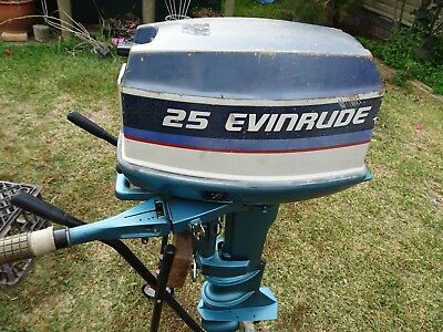 25 HP Evinrude Outboard Motor Long Shaft
