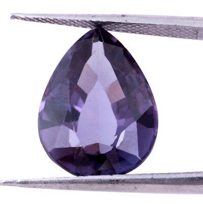 11 Ct. Excellent Faceted Pear Synthetic Purple Sapphire Color Changing Gemstone