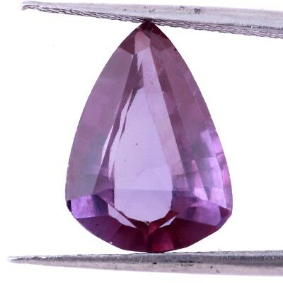 9.50 Ct. Faceted Pear Shape Synthetic Purple Sapphire Color Changing Gemstones