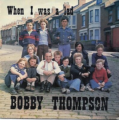 """BOBBY THOMPSON 7"""" SINGLE     WHEN I WAS A LAD / LAUGH IN    picture cover"""