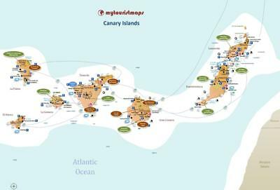Interactive travel & tourism map of CANARY ISLANDS